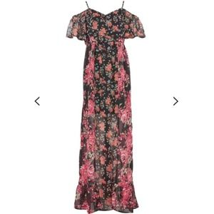 NWT Band of Gypsies Floral Maxi Dress S